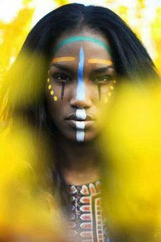 Pintar cara en carnavales india