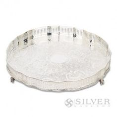 Vintage elegance sparkles all over our Reed and Barton Gallery Tray.