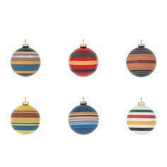 Bring vibrant design to Christmas trees with this National Park Ornament Set from Pendleton. Including six beautiful glass baubles each is hand painted with a colourful striping that will stand out...