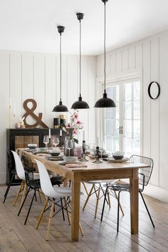 Rustic Scandi Dining Room Ideas