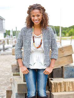 "Praia do Rosa   Berroco  ~  ""A smart crocheted blazer""."