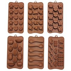 A set of 6 assortment silicone chocolate molds with kids themes. Great for chocolate, jelly or ice cubes. These moulds are perfect for any kids birthday party.       Related Chocolate Moulds Products