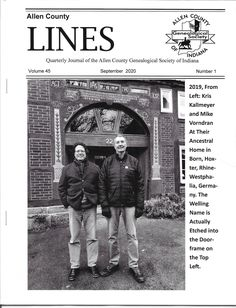 Allen County Lines quarterly periodical from Allen County Genealogical Society of Indiana. County Line, Family History, Genealogy, Indiana