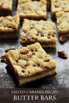 Bake this delicious Salted Caramel Pecan Butter Bar recipe for a tasty family snack. The creamy salted caramel filling is delicious!