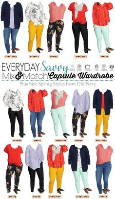 133f72de219 Old Navy Plus Size Capsule Wardrobe - Spring Plus Size Outfits