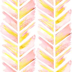 Watercolor Feather Chevron in Blush Pink fabric by emilysanford on Spoonflower - custom fabric
