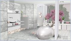 Blossom bathroom set by SIMcredible! Designs 3 - Sims 3 Downloads CC Caboodle