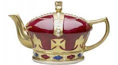 collect teapot, tea time, tea pot, teapot shape, crown teapot, spot