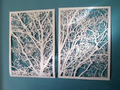 cut paper trees by jenifer