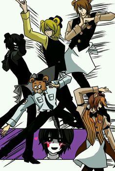 Die talentierten Jungs in FNAF - Anime Chibi, Five Nights At Freddy's, Fnaf X Reader, Bear Tumblr, Animatronic Fnaf, Pole Bear, Fnaf Sister Location, Freddy Fazbear, Fnaf Freddy