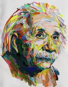 Albert Einstein - by John Morse World Renowned Collage Artist Opening Reception for Bits and Pieces at Art on Gallery Austin, TX. Show Dates: Saturday, September through Saturday, October Opening Reception: Saturday, September Collages, Collage Artists, Paper Collage Art, Paper Art, Collage Portrait, Mosaic Portrait, Portraits, Don Corleone, Dog Art