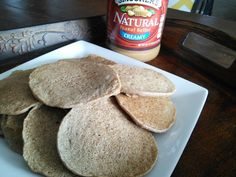 Daniel Fast Pancakes: 1cup whole wheat flour, 1 cup almond milk, 1 ripe mashed banana, 2 TBSP olive oil, 1/2 tsp salt. Mix wet ingredients, mix dry, mix all and cook. Serve with date honey, toasted coconut, nuts, banana, peanut butter, etc.