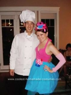 Homemade Cupcake and Baker Couple Costume: I have an obsession with cupcakes-- I simply think that they are beautiful-- and all I really wanted was to be one for Halloween.  This is how I created