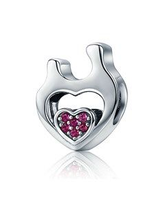 jewellery: Silver Mom and Child Heart Charm!