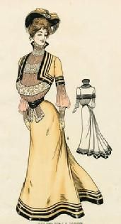 1904 fashion plate. The bolero look with puffy wrist-ed sleeves.