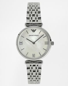 Buy Emporio Armani Women's Stainless Steel Bracelet Strap Watch, Silver from our Women's Watches range at John Lewis & Partners. Emporio Armani, Giorgio Armani Watches, Armani Watches For Women, Watches For Men, Buy Gold And Silver, Rose Gold Watches, Metal Bracelets, Watch Brands, Stainless Steel Bracelet