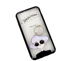 iPhone6/6S リング ミラー ケース 選べる かわいい バリエーション Js (白髪サングラス女性)