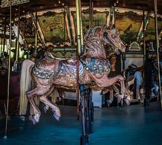 Horse on the Griffith Park Carousel, Los Angeles