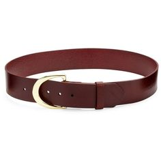 FRAME Le D-Ring Leather Belt (€80) ❤ liked on Polyvore featuring accessories, belts, apparel & accessories, mahogany, leather belts, metallic leather belt, genuine leather belts, 100 leather belt and real leather belts