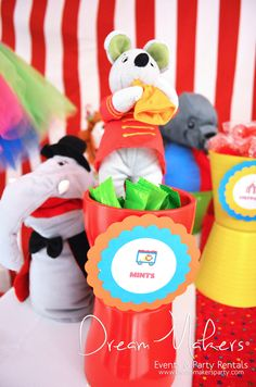 Circus Birthday Party Ideas!  See more party ideas at CatchMyParty.com!