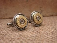 Bullet Casing Jewelry - 44 Magnum Bullet Casing Cuff Links - Great for the Gun Enthusiast or Unique Groomsmen Gifts via Etsy