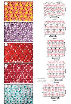 (+1) Ажурные и сетчатые мотивы (вязание крючком)