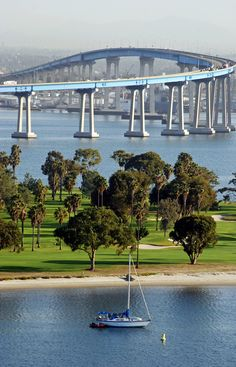Coronado Bridge, San Diego, California Made it over and back! Says a lot for a bridge fearing person! The Places Youll Go, Places To See, Coronado Bridge, Coronado Island, Coronado Beach, California Dreamin', California Camping, Imperial Beach California, Belle Photo