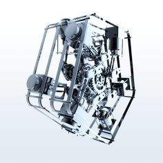 3D Animation of Mechanical Parts in Action