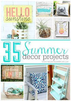 Looking for amazing ideas to spruce up your home this summer, look no further! Here are 35 Summer Decor Projects gathered in one spot.