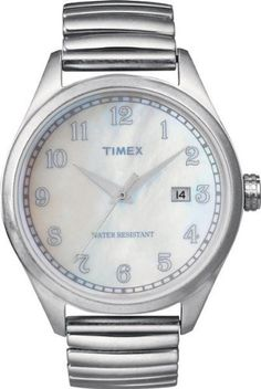 Timex Originals T2N408 Unisex T Series Pearl Dial Steel Expander Watch *** To view further for this item, visit the image link.