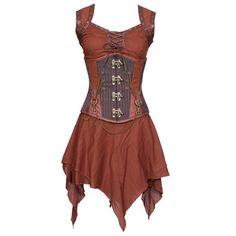 The Violet Vixen - Weapon Master's Drinking Gown, $128.00 (http://thevioletvixen.com/clothing/corset-dresses/weapon-masters-drinking-gown/)