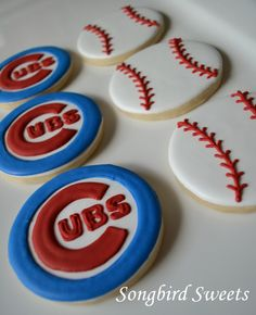 Chicago Cubs Cookies...I made these for my brother-in-law:)