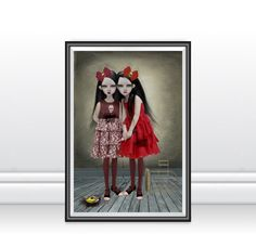 A3 Art Print - Goth Girl Art Print - Gothic Art - Goth Girls - A Deliberate Accident by HarrietsImaginations on Etsy https://www.etsy.com/uk/listing/107505235/a3-art-print-goth-girl-art-print-gothic