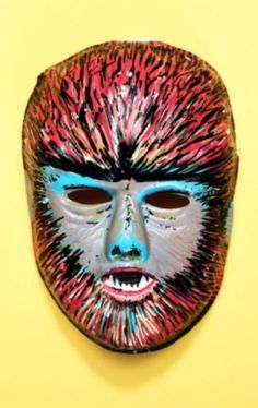 Werewolf -- vintage retro plastic Halloween mask