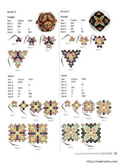 Seed Bead Patterns, Beaded Jewelry Patterns, Beading Patterns, Baubles And Beads, Beaded Ornaments, Beading Techniques, Beading Tutorials, Seed Bead Jewelry, Bead Jewellery