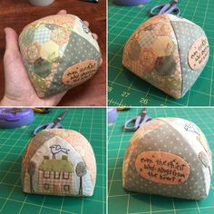Our marketing director Karen made her own version of the popular Little House pincushion featured in Cottage-Style Charm. Isn't it the sweetest?