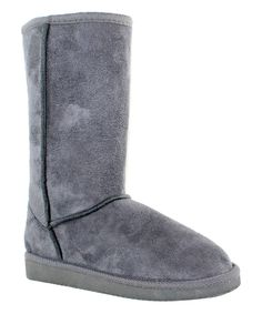 Look at this OLIVIA MILLER Gray Ora Boot on #zulily today!