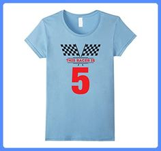 Womens Kids 5th Birthday Racing Gift T Shirt For 5 Year Old Boys Medium Baby