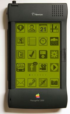 kuroamemo: konishiroku: assort: chlt: hyousuke: akuwa: nemoi: aokie: msnr: yaruo: kml: kanal: stefigno: nickmcglynn: If the iPhone and the Newton had a baby… (via nickmcglynn) Old Technology, Technology Gadgets, Tech Gadgets, Energy Technology, Apple Newton, 8 Bits, Kids Electronics, Windows Xp, Retro Futurism