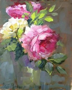 Acrylic Painting Flowers, Abstract Flowers, Acrylic Art, Watercolor Paintings, Paintings I Love, Beautiful Paintings, Floral Artwork, Rose Art, Arte Floral