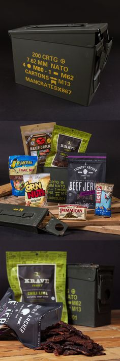 Ammo box filled with awesome, manly snacks. I want this. -D