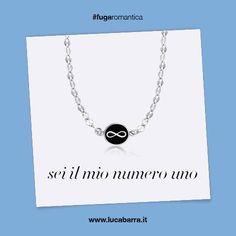 Per il papà collana in acciaio con il simbolo dell'infinito e smalto nero Luca Barra Gioielli. #collanauomo #gioielliuomo #lucabarragioielli #tendenzemodauomo