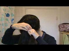 Halo or Crown braid tutorial, Dutch braid style. It'll take some practice, I'm sure!