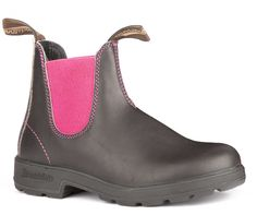 Blundstone 1329 - The Original in Stout Brown with Pink Elastic – Blundstone Canada