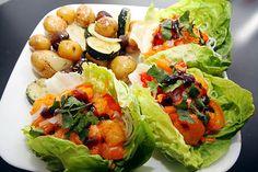 Spicy Asian Shrimp Lettuce Cup