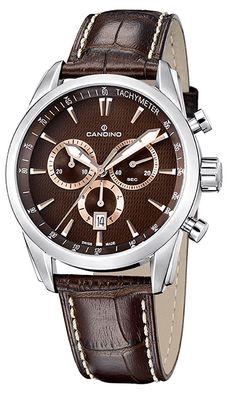 Montre Candino Quartz Homme C4408-2 - Chronographe - Cadran Acier  inoxydable Argent - Bracelet f3e4d644f79
