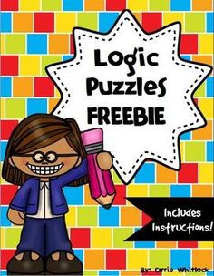 If you are wondering what a logic puzzle is, it is a puzzle where you use clues, a grid, and some deductive reasoning to figure out who matches with what, or what items go together.  It is a great way to exercise your students' brains!Here is my blog post about the benefits of logic puzzles!