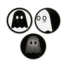 "Ghostly Logo 3"" Sticker Set"