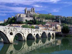 velhas imagens, papéis de parede ponte, céu vector, pedra edifícios fundos, material de cidade