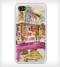 Taxi+&+Cityscape+iPhone+Case+by+tart+by+tynik+on+Scoutmob+Shoppe